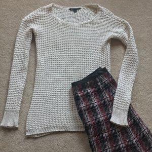 American Eagle Chunky White Sweater